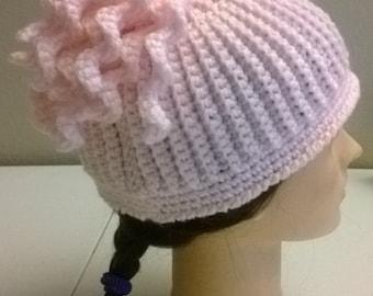 Fun curls beanie crochet handmade