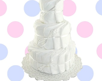3 Layer- Decorate It Yourself Baby Shower Diaper Cake