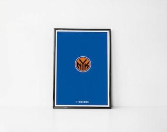 New York Knicks Minimalist   Art Print