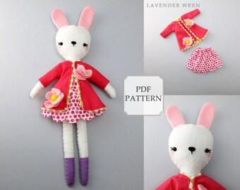 Felt Toy Pattern, Bunny Toy PDF, Plush Bunny Toy Pattern, Stuff Bunny PDF, Bunny Sewing Pattern, Plush Bunny Pattern, pdf Stuffed Bunny Toy