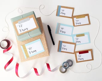 Variety Pack Gift Tag Labels, Gift Labels, To From Stickers, To From Labels, To From Tags, Birthday Gift Wrap, Gift Wrapping Ideas