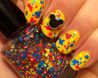 Super Mouse ~ 15 mL Full size bottle ~ Indie Handmade Nail Polish 7-toxin-Free Glitter Lacquer