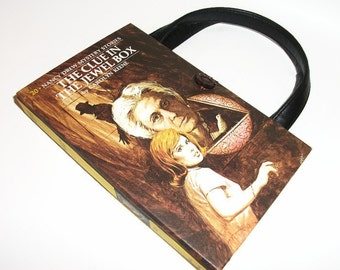Nancy Drew Book Purse Clue in the Jewel Box Handbag Vintage Book Purse