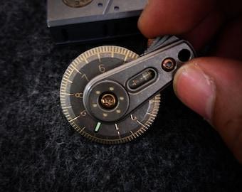 New Pocket EDC Titanium Rolling Ruler Craft Supplies Measuring Tool