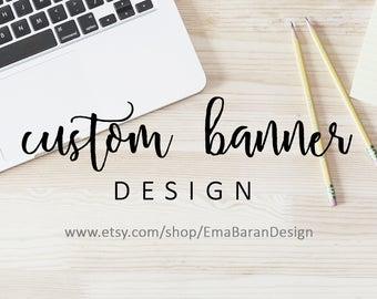 Custom Banner Design - banner design, custom branding, cover design, shop design, cover design, Graphic Design Service | EmaBaranDesign