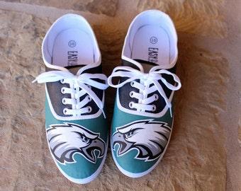 Hand Painted Shoes - Philadelphia Eagles