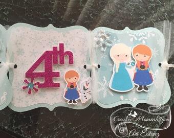 Frozen  Cutie Personalized Birthday Banner