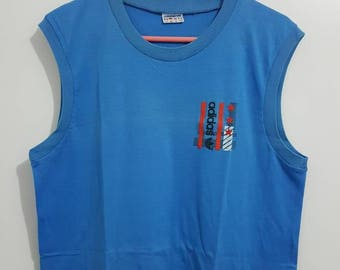 T-shirt / tank Adidas Vintage years 80-90 Made in France size M