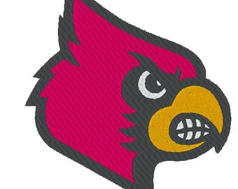 Louisville Cardinals Embroidery Design.  5 Hoop Sizes