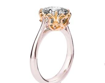 Moissanite Engagement Ring, Heart Ring, Unique Engagement Ring, Forever Brilliant, Statement Ring, Forever One Moissanite Ring, Hearts