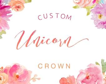 CUSTOM UNICORN CROWN, flower crown, costume crown