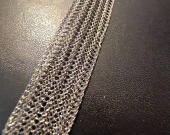 Metal Ribbon braided width 1.8 cm x 1 m