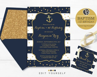 Navy baptism invitation instant download boy baptism baptism 1st birthday invitation instant download boy baptism 1st birthday invitation nautical baptism invitation editable invitations solutioingenieria Gallery