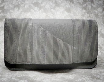 Shannon Clutch in Gray w/Gray Zebra