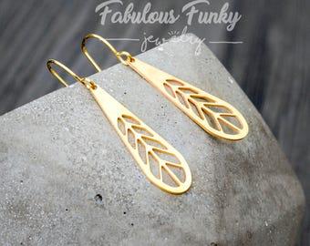 Brass Earrings-Geometric