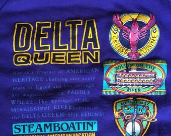 1989 Delta Queen sweatshirt USA xl