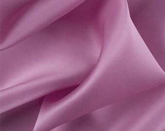 Carnation Pink Silk Satin Organza, Fabric By The Yard