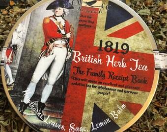 1819 Recipe: British Herb Tea For Anxiety, Regency Tea, Jane Austen Tea, Mrs. Bennet Tea, Loose Leaf Tea, Organic Tea, British Tea,