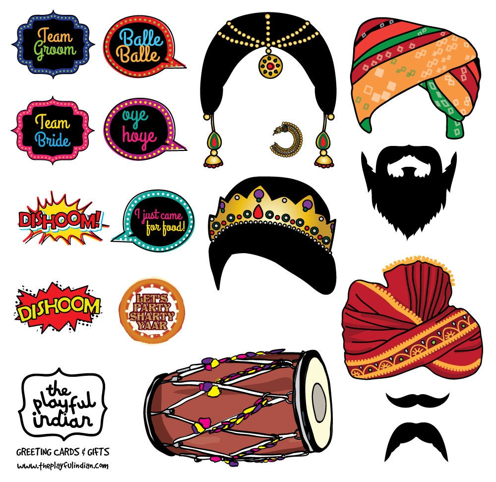 Bollywood night photo booth prop indian themed photo prop zoom solutioingenieria Image collections