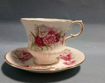 Paragon Flower Festival K Carnations Teacup and Saucer