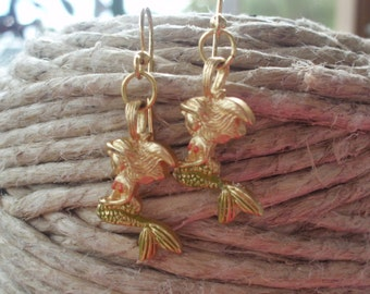 Golden Mermaid Earrings