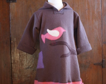 Organic Modern Little Birdie Hoodie Dress