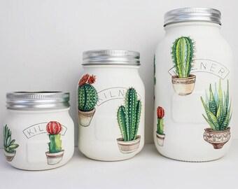 Cactus plante Kilner / pot Mason
