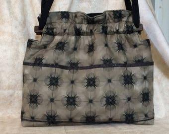 Lg Conceal Carry CCW brown swirl handbag purse shoulder or cross body