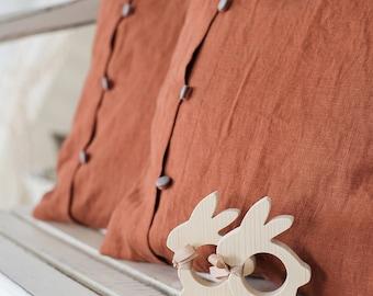 Linen pillow cover - Linen pillow shams - Linen cushion cover - Decorative pillow case - Chair pillow - Linen throw pillow - Linen bedding