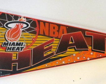 Miami Heat Banner / 1990s Pennant