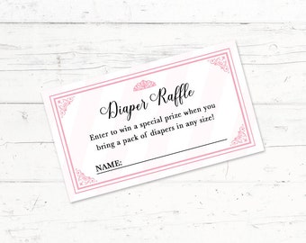 Once Upon a Time Princess Baby Shower Diaper Raffle Ticket, Trains, Printable Diaper Raffle Ticket, Digital Download