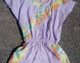 80s Erbacher Shell Play Suit All in One Tennis Shorts