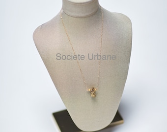 Raw Druzy Pendant- Simple Layering Necklace-Boho Luxe Jewelry- Healing Stones / Boho//Minimalist//Cool// Jewelry By Societe Urbane SU022