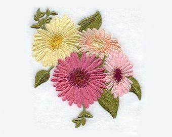 Gerbera Daisy Tea Towel | Embroidered Towel | Embroidered Kitchen Towel | Kitchen Towel | Hand Towel | Personalized Kitchen Towel Gift Towel