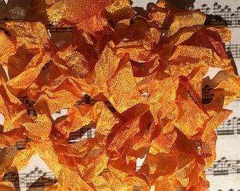 Hand dyed crinkle ribbon Wild Honey seam binding crinkly stained ribbon TeamHaha Hafair OFG ADO Nooga Norga Mha Ellijay