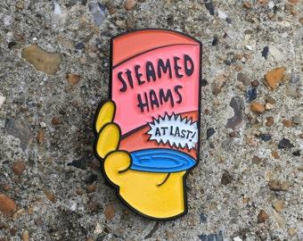 Steamed Hams! | Simpsons Soft Enamel Lapel Pin | Lapel Pins | Enamel Pins | The Simpsons | Principal Skinner