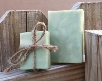 Handmade Eucalyptus & Spearmint Goat's Milk Soap