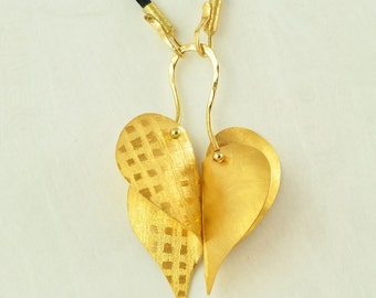 22K Solid Gold, Handcrafted Pendant, No. 019-3