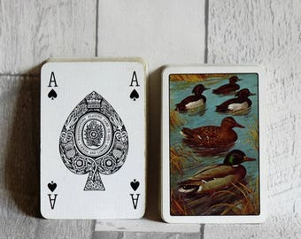 Vintage Set of Waddingtons Fine Playing Cards - Ducks on a River