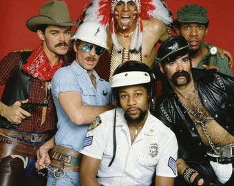"8 x 10"" Glossy Reproduction photo of The Village People"