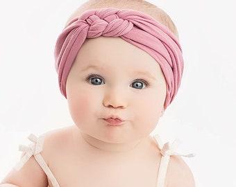 Choose color Sailor Knot Nylon Baby Headbands, Stretch soft nylon headwraps, baby headband, One size fits all, SAILOT KNOT