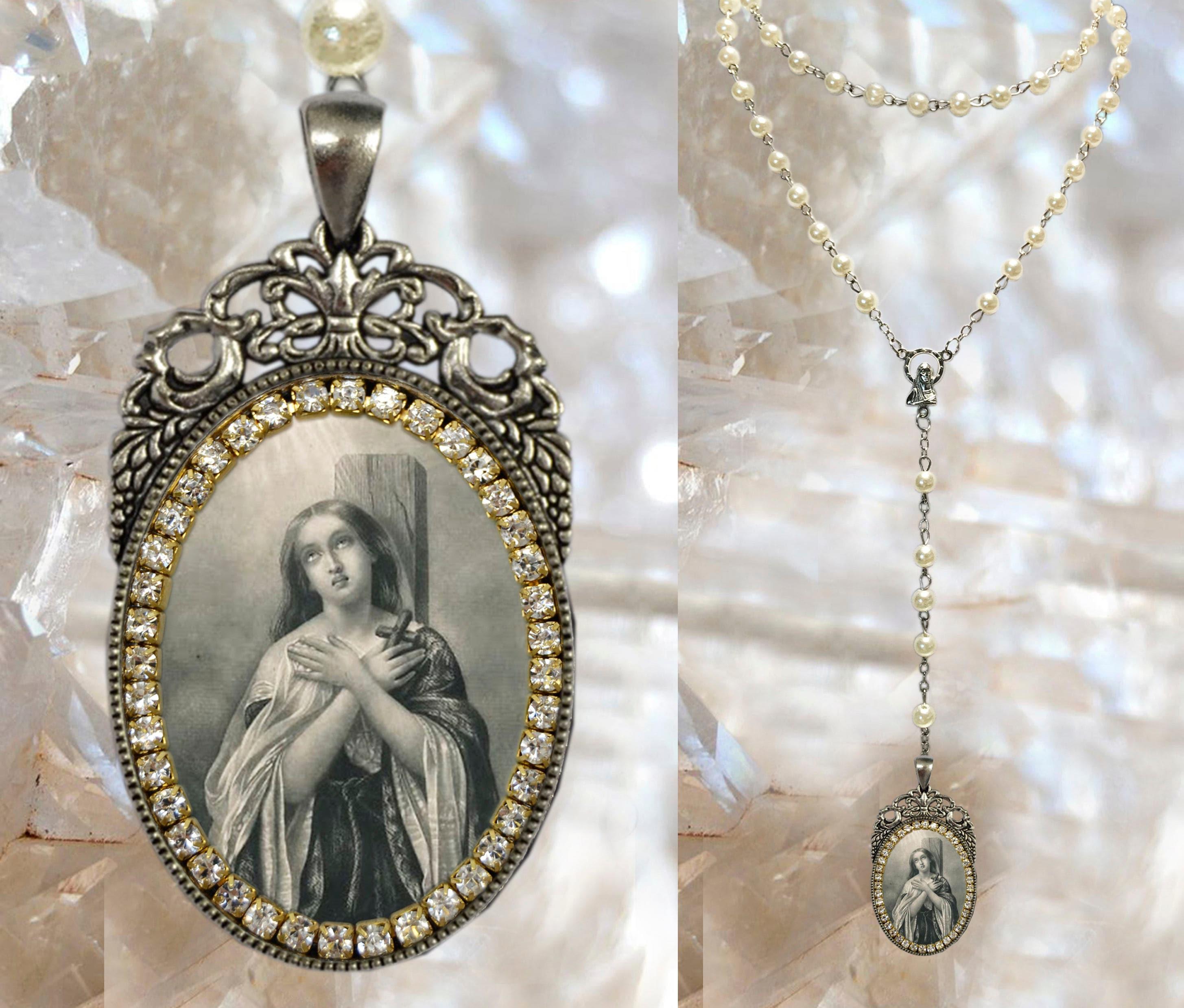 St joan of arc rosary handmade catholic religious jewelry pendant st joan of arc rosary handmade catholic religious jewelry pendant the maid of orlanssainte jeanne darc la pucelle dorlans aloadofball Gallery