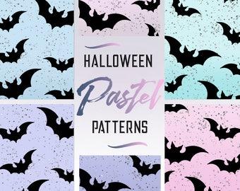 HALLOWEEN, PASTEL, DIGITAL paper, pastel glitter, pastel goth, glitter, pastel backgrounds, halloween elements, pastel patterns, digital