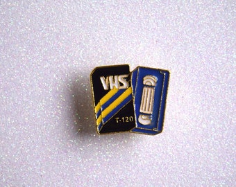 VHS enamel Pin //  badge Cassette 80's 90's Retro 80s pingame 1980s Accessories Patches & Pinback Buttons lape jewelry Music