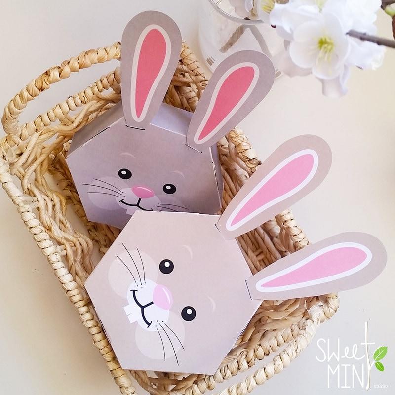 Printable bunny box diy digital download rabbit party favor zoom negle Gallery