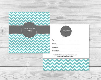 Business card templates editable pdf 35 x 2 photography gift certificate template chevron gift certificate card pdf template for photographers editable pdf cheaphphosting Gallery