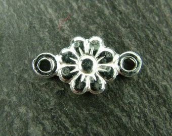Sterling Silver Flower Connector 12mm