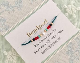 Wish bracelet, friendship bracelet, wedding favor, bridesmaid gift, party favor