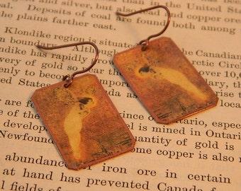 Art earrings Fairy earrings  mixed media jewelry Art jewelry