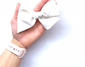 White Oversized Bow